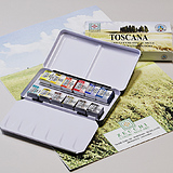 Watercolor Metal Box Pocket 12