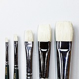 Short Pig Hair Oil-color Brush SH