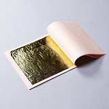 Loose gold - Book of 25 leaves double: 23 3/4 kt. Orange gold