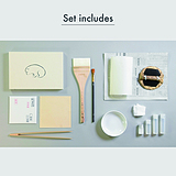 Art Materials set(Introduction to Pure Gold Leaf)